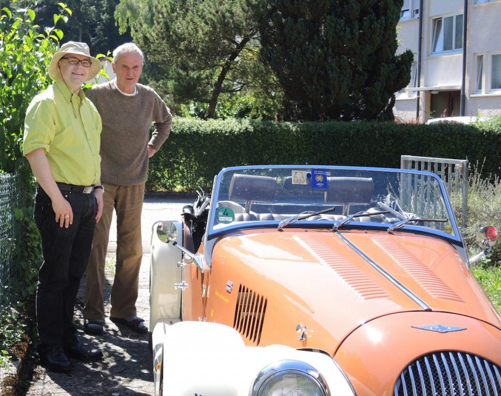 Frank Börnard, Karl-Heinz Köhler und der englischen Sportwagen Morgan 4/4